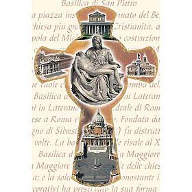 Estampa Cruz con Basílicas de Roma s1