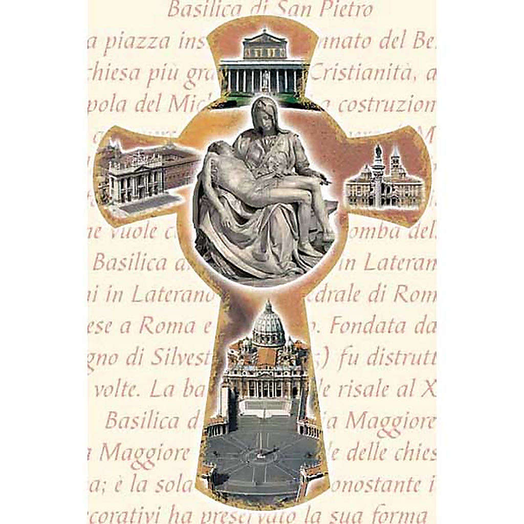 Holy Card with cross and Roman Basilicas 4