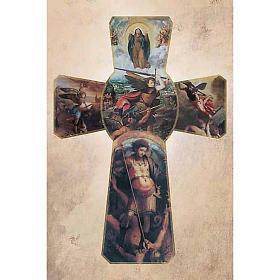 Image pieuse croix avec St Michel Archange s1