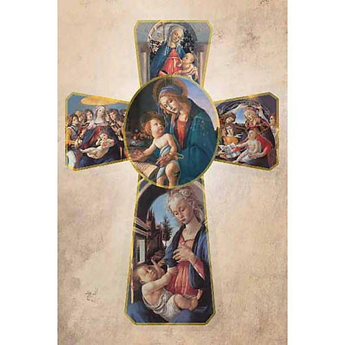 Holy Card with Botticelli's cross 1