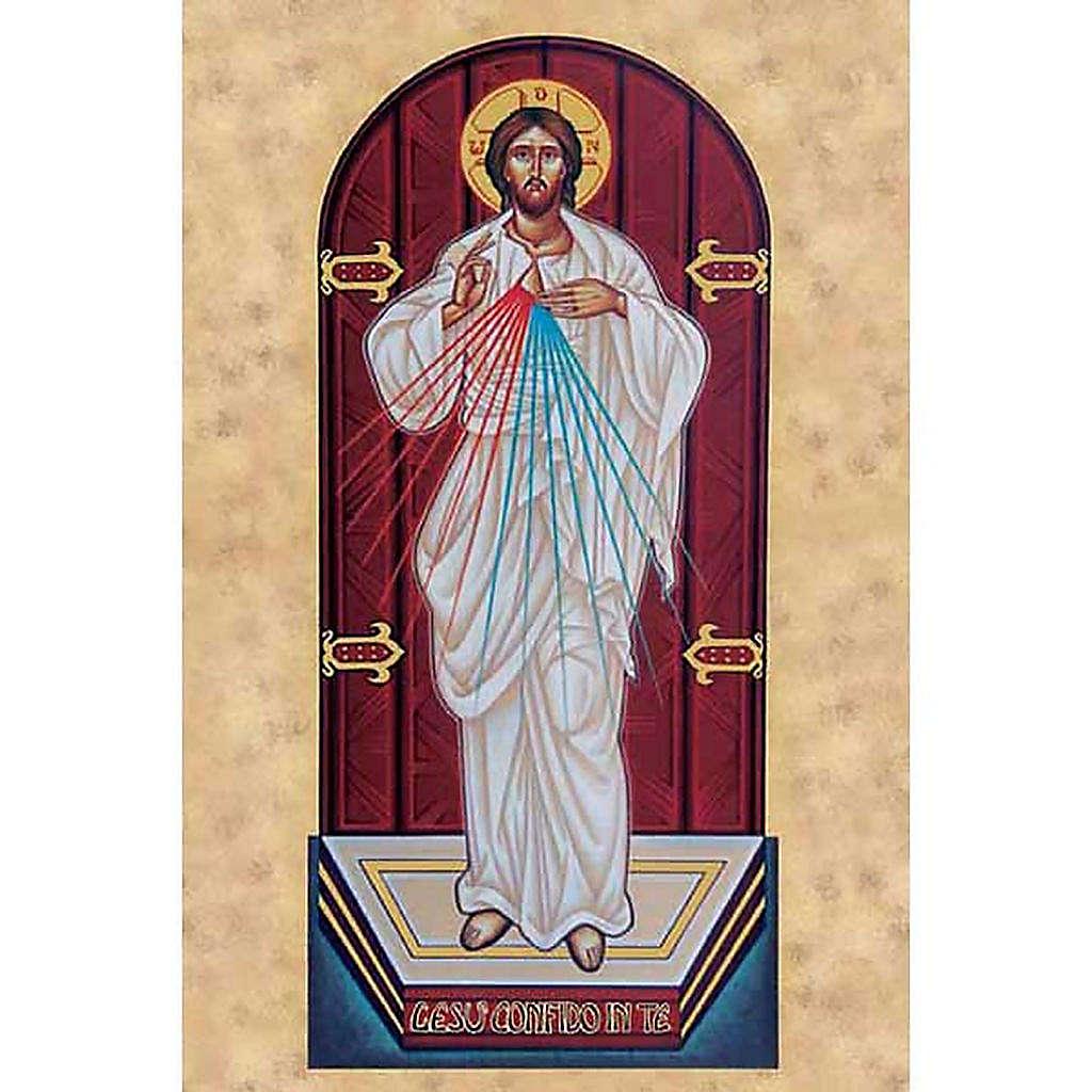 Merciful Jesus icon Holy Card 4