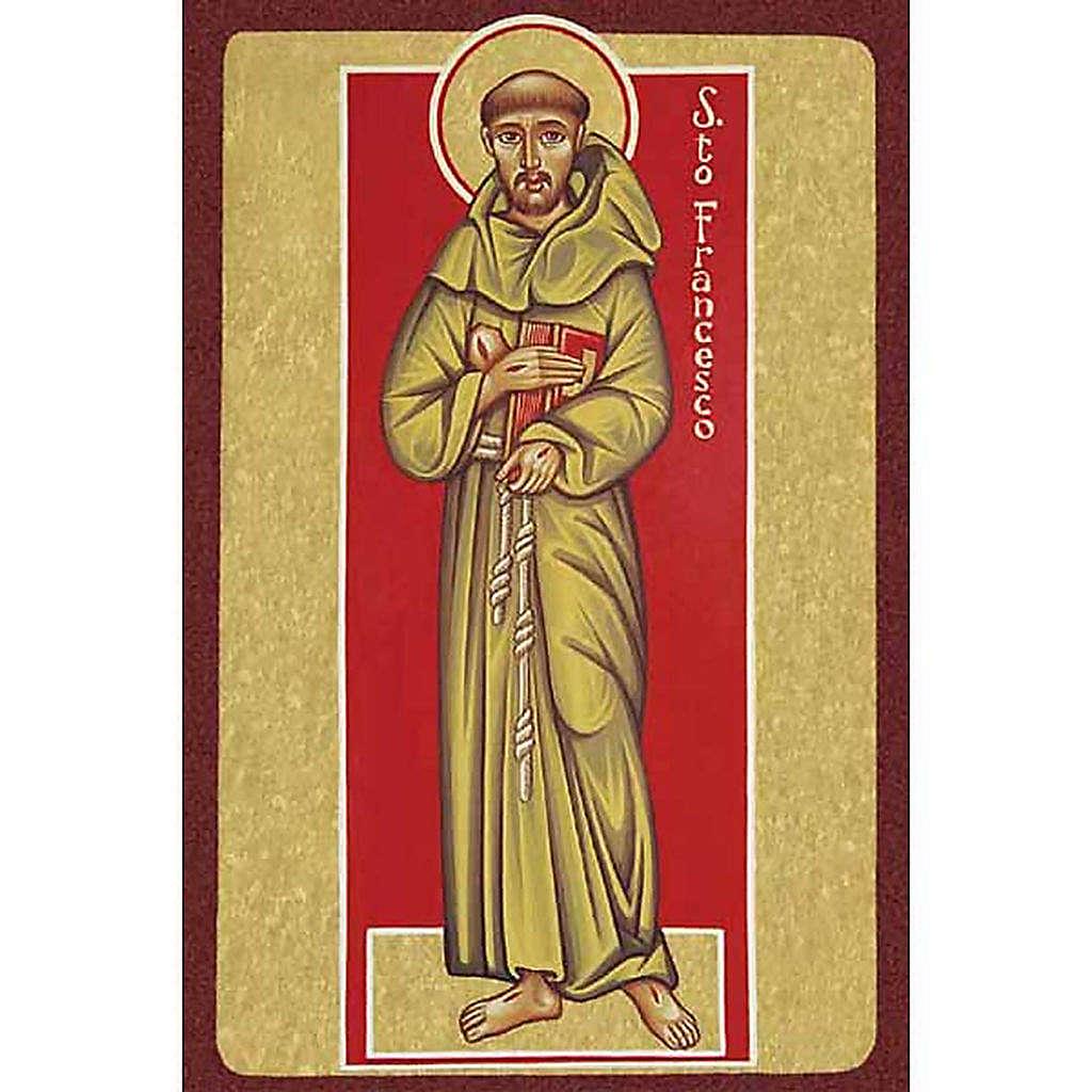 Image pieuse St François d'Assise avec livre 4