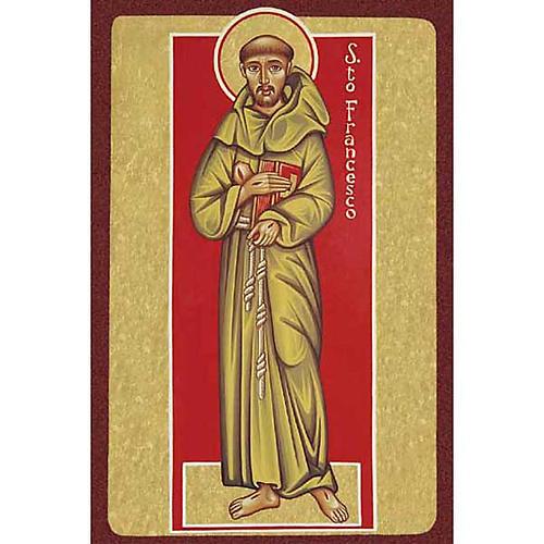 Image pieuse St François d'Assise avec livre 1