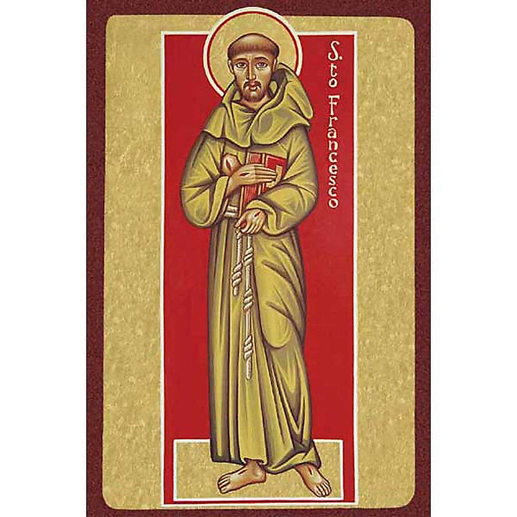 Saint Francis of Assisi with book Holy Card 4