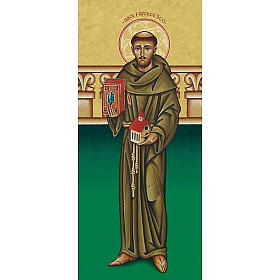 Santino San Francesco con chiesa s1
