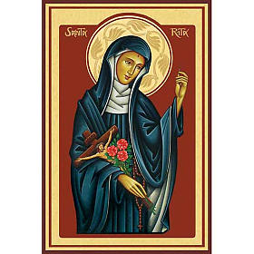 Saint Rita Holy Card s1