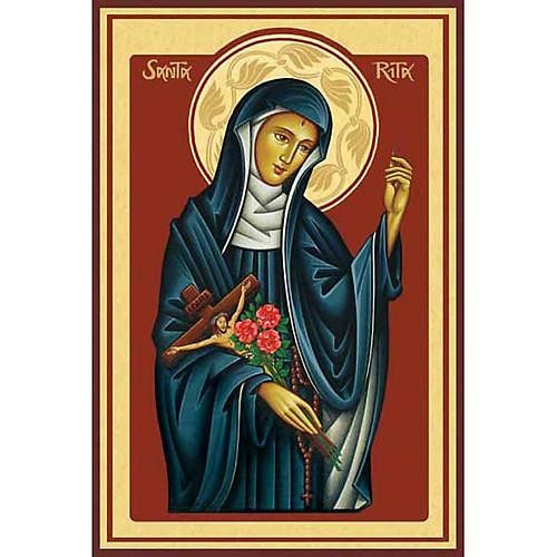 Saint Rita Holy Card 1
