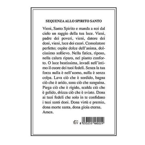 Image pieuse Saint Esprit avec Séquence au verso 2
