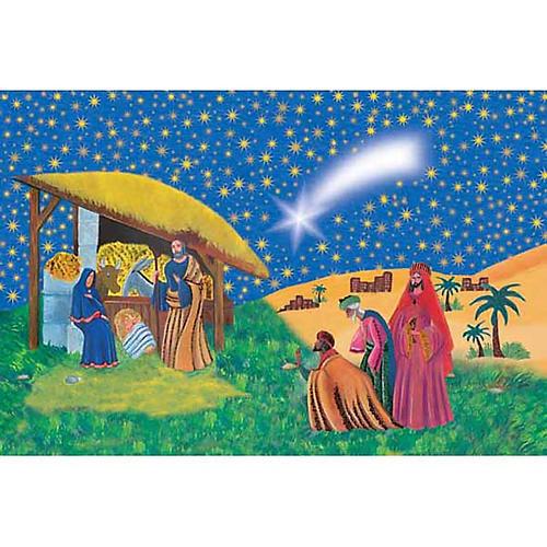 Estampa Natividad con los Reyes Magos 1