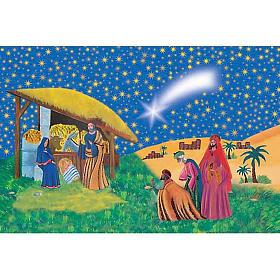 Image pieuse Sainte Famille et Mages s1