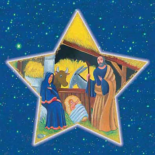 Image pieuse Sainte Famille étoile filante 1