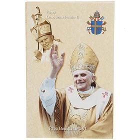Santino Giovanni Paolo II e Benedetto XVI s1