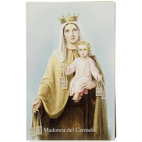 Our Lady of Mount Carmel holy card with prayer s1