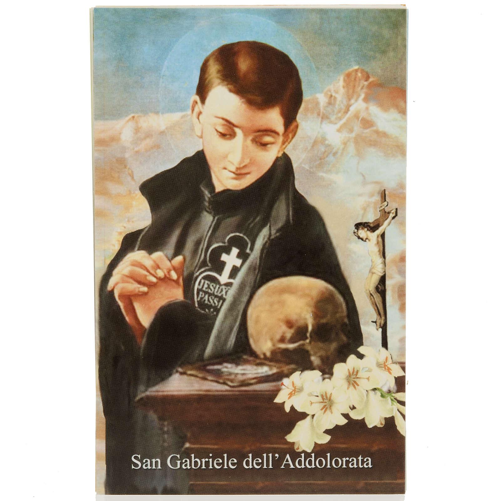 Santino S. Gabriele dell'Addolorata con preghiera 4