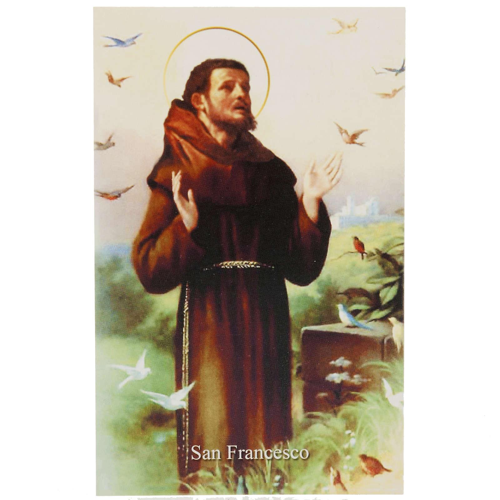 Image pieuse St François avec prière italien 4