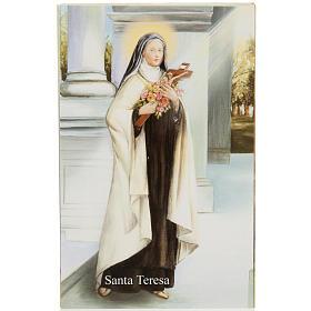 Santino S. Teresa con preghiera s1