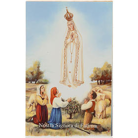 Santino Fatima con preghiera s1