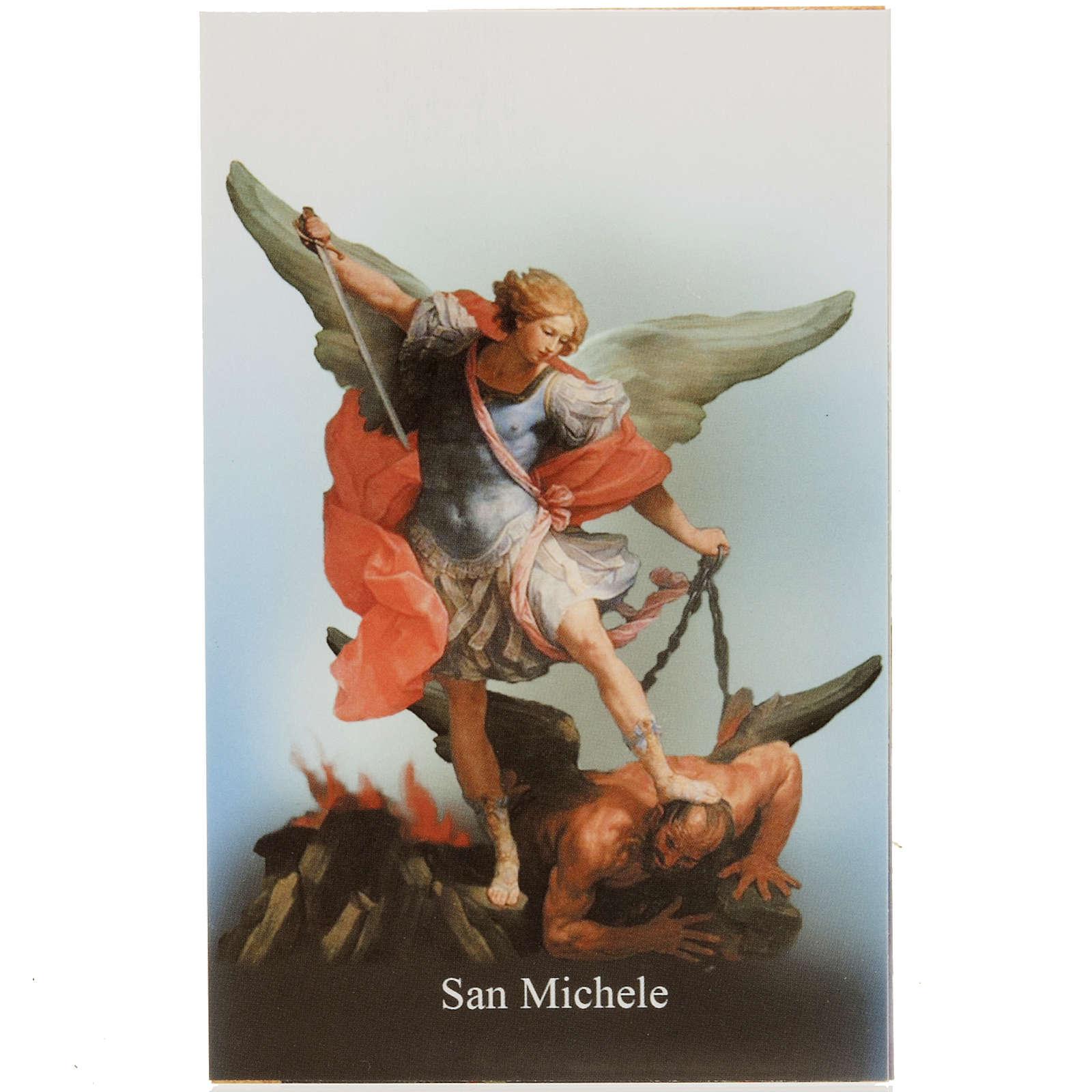Santino San Michele con preghiera 4