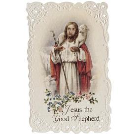 Estampas Religiosas: Estampa Jesus the good shepherd (inglés)