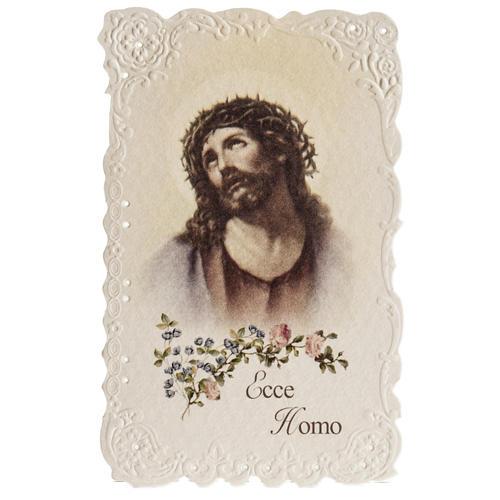 Santino Ecce Homo con preghiera (inglese) 1