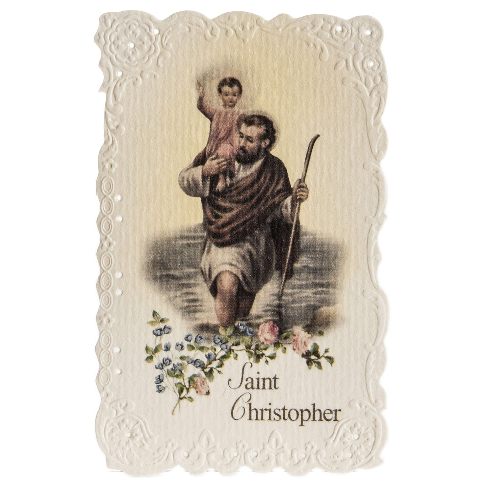 Santino Saint Christopher con preghiera (inglese) 4