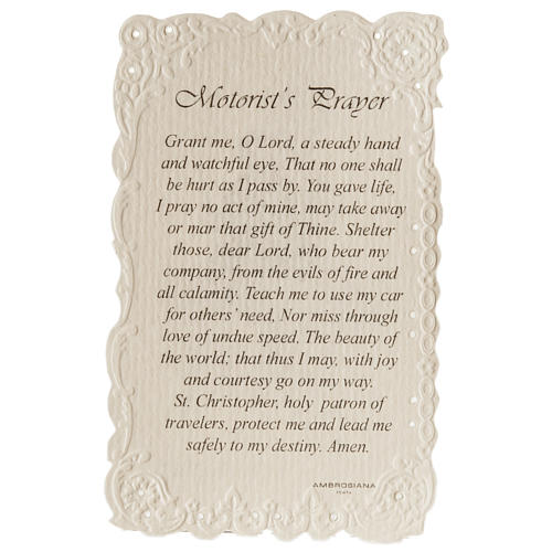Santino Saint Christopher con preghiera (inglese) 2