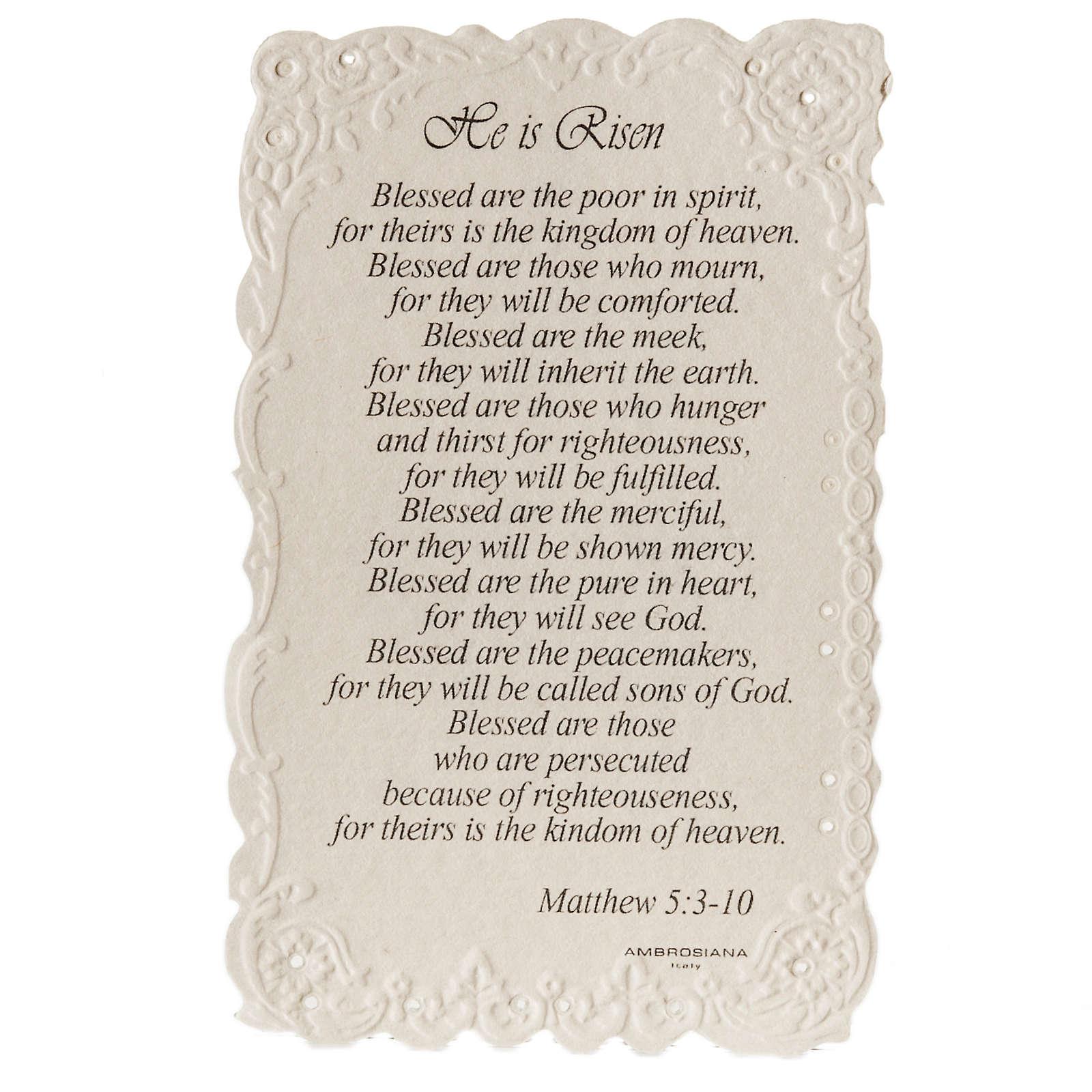 Santino He is Risen con preghiera (inglese) 4