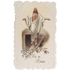 Santino He is Risen con preghiera (inglese) s1