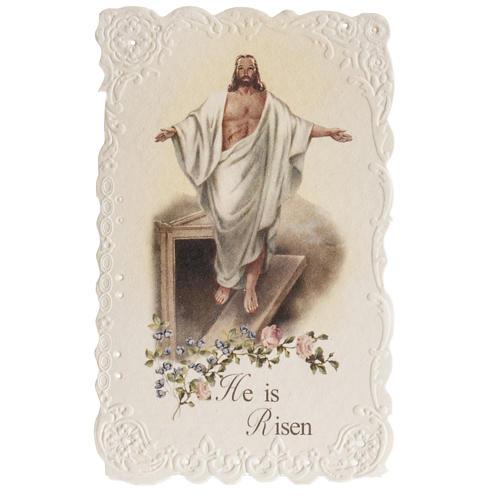 Santino He is Risen con preghiera (inglese) 1
