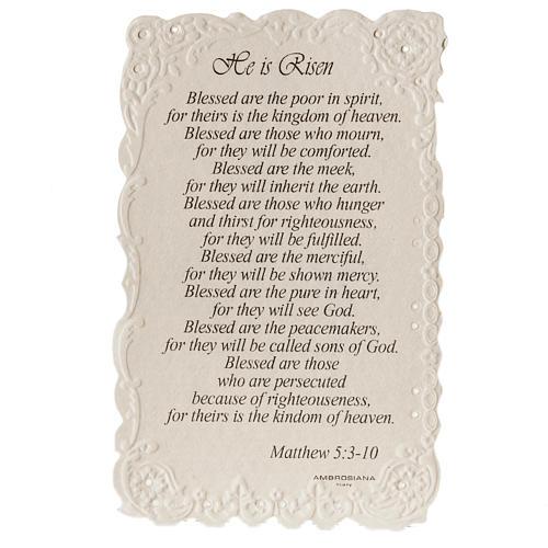 Santino He is Risen con preghiera (inglese) 2