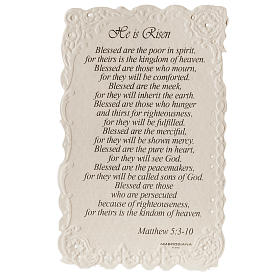 He is Risen holy card with prayer in ENGLISH s2