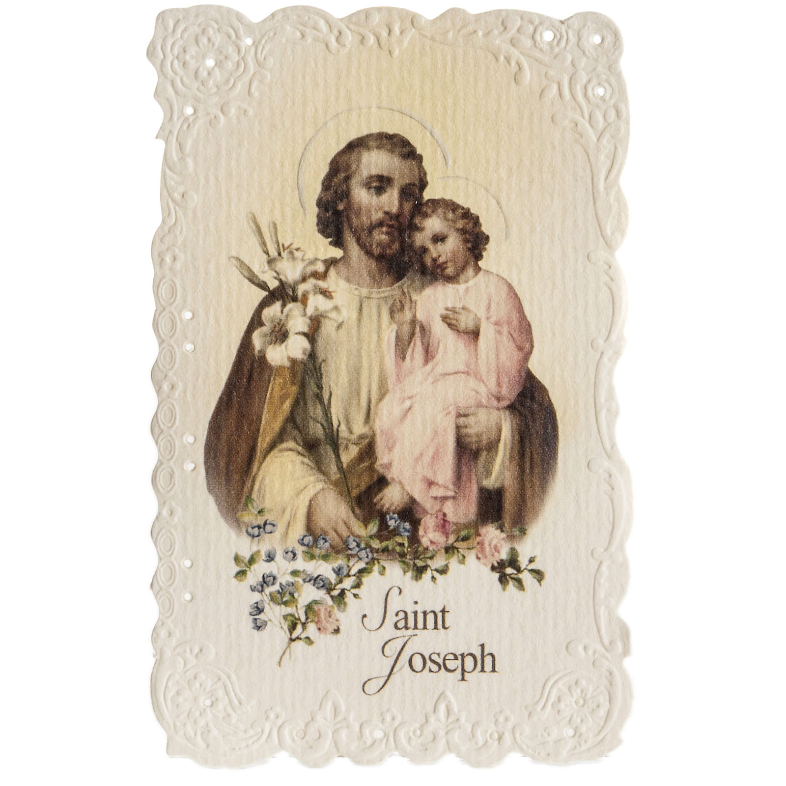 Saint Joseph holy card with prayer in ENGLISH 4