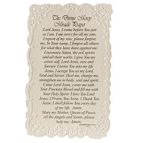 Santino Divine Mercy con preghiera (inglese) s2