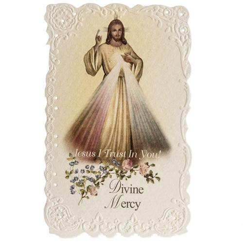 Santino Divine Mercy con preghiera (inglese) 1