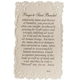 Santino Saint Benedict con preghiera (inglese) s2