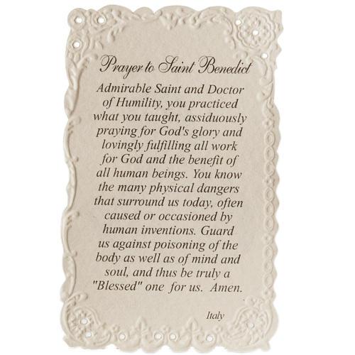 Santino Saint Benedict con preghiera (inglese) 2