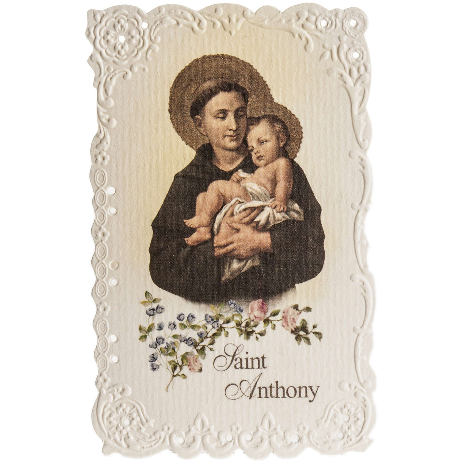 Santino Saint Anthony con preghiera (inglese) 4