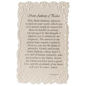 Santino Saint Anthony con preghiera (inglese) s2