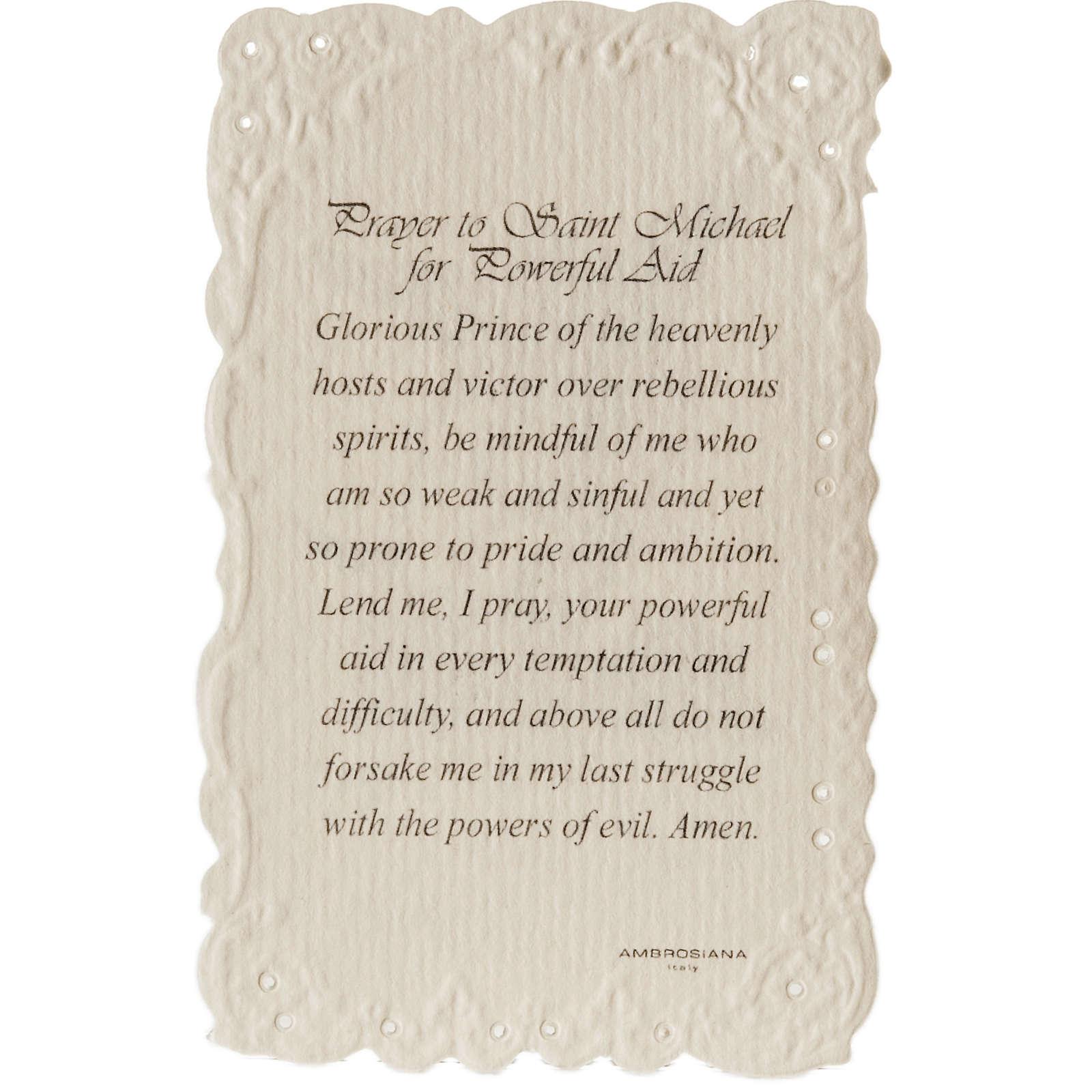 Image pieuse Saint Michael et prière ANGLAIS 4