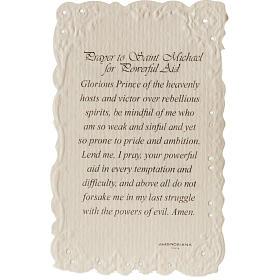 Image pieuse Saint Michael et prière ANGLAIS s2