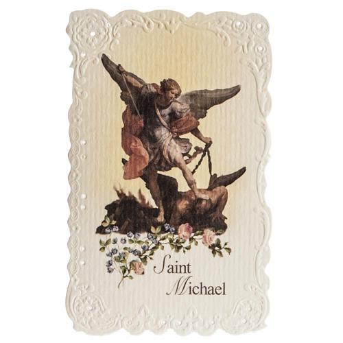 Image pieuse Saint Michael et prière ANGLAIS 1