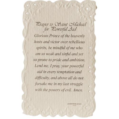 Image pieuse Saint Michael et prière ANGLAIS 2