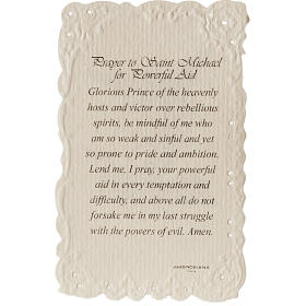 Saint Michael holy card with prayer in ENGLISH s2