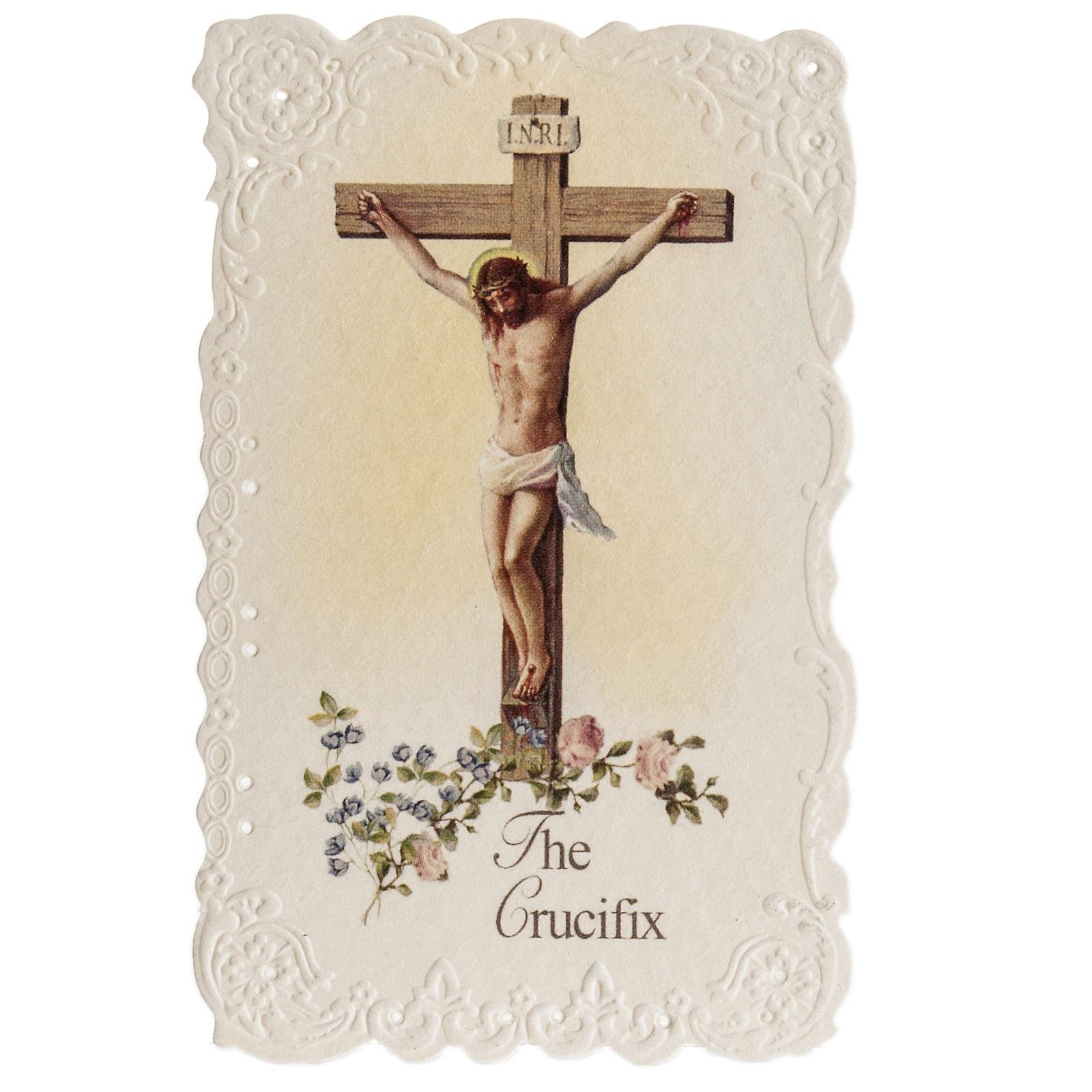 Image pieuse The Crucifix et prière ANGLAIS 4