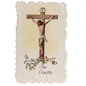 Image pieuse The Crucifix et prière ANGLAIS s1