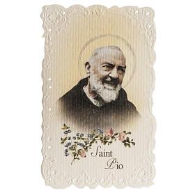 Santino Saint Pio con preghiera (inglese) s1