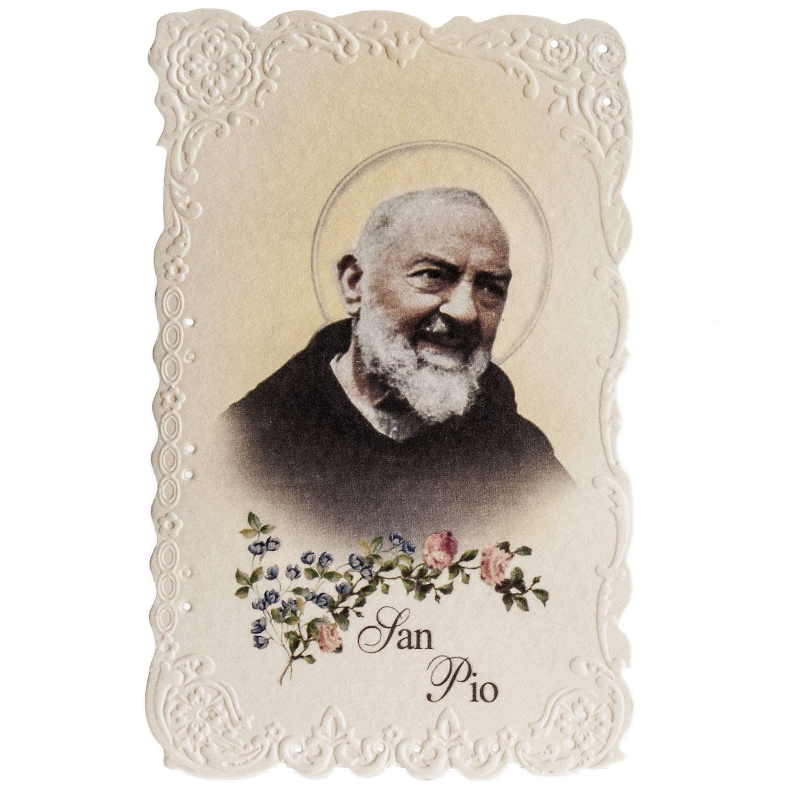 Estampa San Pio da Pietrelcina con oración (italia 4