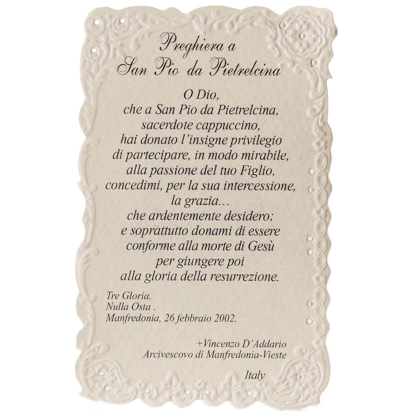 Santino San Pio da Pietrelcina con preghiera 4