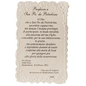 Santino San Pio da Pietrelcina con preghiera s2