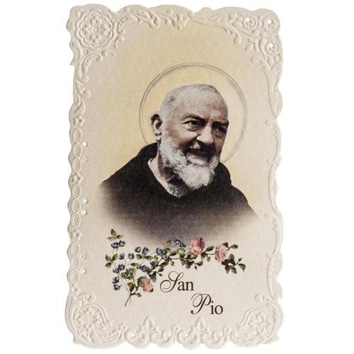 Santino San Pio da Pietrelcina con preghiera 1